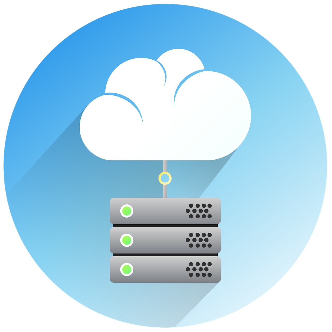 server, cloud, design